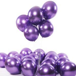 50packs 12in Latex Metallic Balloons Wedding Birthday Party Decoration
