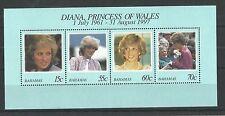 Bahamas 1998 diana princess of wales minisheet sg, MS1131 u/m nh lot 1285A
