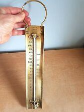 G.H. Zeal, London, Vintage Brass Toffee Thermometer. #ES36. Good Condition.