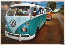 Kombi Oil Painting Hand-Painted Art Canvas Volkswagen Camper NOT Print 24x36 #2