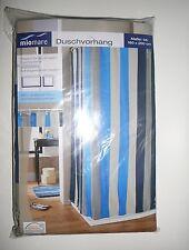 NEU Miromare toller Duschvorhang 180 x 200 cm blau gestreift !!
