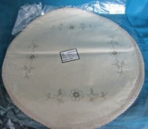 PRE PRINTED  STAMPED TRACED EMBROIDERY LINEN CLOTHS, ROUND, OVEL, DRESSING TABLE