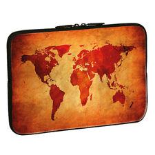 Design Schutzhülle - Brown Global Map, 17,3 Zoll (43,9cm) Notebook Laptop Tasche