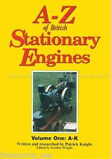 La A-z Of British motores estacionarios Libro, Volume One un a K Por Patrick Caballero