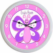 Butterfly Happy Face Custom Personalized Wall Clock New 10""