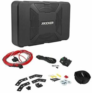 "Kicker 11HS8 8"" 150 Watt Hideaway Compact Car Audio Powered Subwoofer Sub HS8"