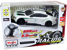 MAISTO 81147 R/C RADIO REMOTE CONTROL CAR BENTLEY CONTINENTAL GT3 1/24 WHITE