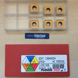 SDHT 1504AESN Gm43+ Milling Inserts Tips Plansee Tizit Ceratizit Box Of 6 NOS