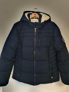 SOUL CAL & Co Heavy Fleece Lined Hooded Padded Coat Size UK16