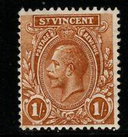 ST.VINCENT SG138a 1927 1/= OCHRE MTD MINT
