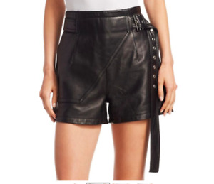Genuine Lambskin Leather HOT Partywear Cocktail Designer Sexy Shorts For Women's