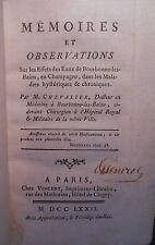 CHAMPAGNE-ARDENNE HAUTE-MARNE - CHEVALIER, Eaux de Bourbonne-les-Bains 1772.