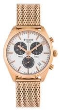 New Tissot PR 100 Chrono Rose Gold PVD Mesh Steel Quartz Watch T1014173303101
