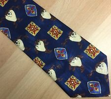 Cartoon Character Novelty Blue Tie Taz Looney Tunes