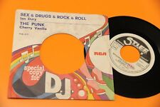 "IAN DURY 7"" SEX DRUGS ROCK & ROLL ORIG ITALY PROMO 1977 EX !!!!!!!!"