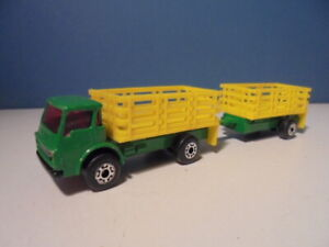 MATCHBOX   SUPERFAST DODGE STAKE TRUCK/TRAILER, c1984