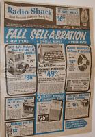 VINTAGE FALL 1960 RADIO SHACK ADVERTISING FLYER! TRANSISTOR RADIO! TUBE AMPS! ++
