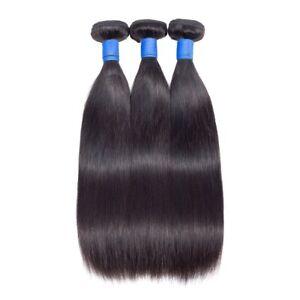 100g-300g Peruvian Real Virgin Human Hair Extension Body Wave Straight Hair Weft