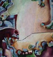 """Cecilia Mayr Original Art 9"""" X 10""""  $350 From Her Early Works """" Revel """" No s2"""