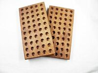 44 MAG loading block  wooden walnut  reloading tray