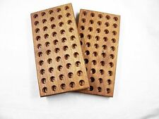 300 WIN MAG loading block  wooden walnut  reloading tray