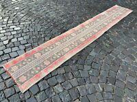 Runner rug, Turkish rug, Vintage rug, Handmade rug, Wool rug, Carpet 2x11ft.