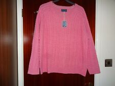 JOULES NELL PINK CABLE KNIT JUMPER SIZE UK 18