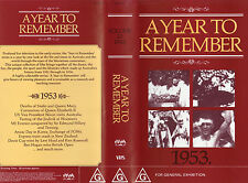 A YEAR TO REMEMBER 1953 -Australia & The World -VHS -PAL - NEW & SEALED - Rare!!