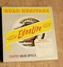 1956 Ednalite Chrom Type A 85 SERIES IV  Camera Lens Filter Gold Heritage & Case