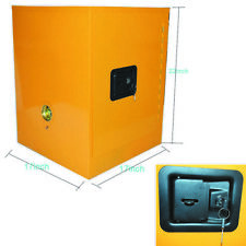 4 Gallon Yellow Safety Storage Cabinet Manual Close Welded Flammable Liquid