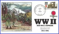 USA #2838h U/A COLLINS HAND PAINTED FDC   WWII - Red Ball Express