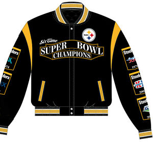 NFL Pittsburgh Steelers Super Bowl Champions Reversible Jacket