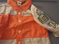 CuTe New baby Gap Robot 18 24 months Shirt boy Orange