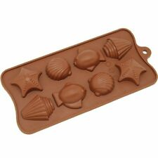 Seashell starfish Silicone Soap mold Candy Chocolate Fondant Tray mould ICE Cube