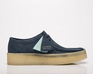 Clarks Originals Wallabee Cup Men's Blue Nubuck Casual Lifestyle Shoes Boots