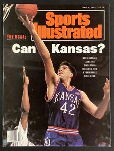 Mark Randall Sports Illustrated 4/1/91 NO LABEL Basketball Kansas Jayhawks NCAA
