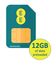 EE 4G Pay As You Go PAYG Trio Broadband SIM Card With 12GB Data for 30 Days