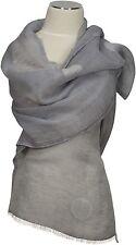 Schal Leinen, Foulard Grau Silber scarf Polka Dots linen grey silver summer