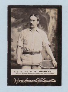 Tennis Card - Guinea Gold (Ogdens Ltd.) - #474 E. de S.H. Browne