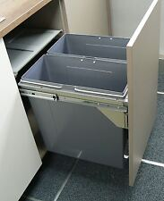PULL OUT KITCHEN CABINET INTEGRATED RECYCLE WASTE BIN 600mm 90 LTR FRONT FIXING