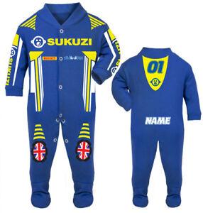 2017 Sukuzi Baby Biker Race Sleep Suit