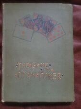 The Game of Draw Poker Book - John W. Keller - 1887 - V. Rare - Gambling Cards