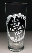 """Morland Old Speckled Hen""""Old Golden Hen""""pint glass Father's Day gift free uk p&p"""