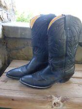 Nocona Cowboy Boots Black Leather Western Style Men's Size 10 A Extra Narrow EUC