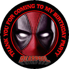 12 Deadpool Birthday Party Favor Stickers (Bags Not Included) #1