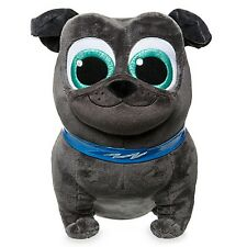 "DISNEY STORE PUPPY DOG PALS BINGO SMALL PLUSH 8 1/2"" PUG ROLLY'S BROTHER"