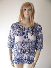 MILLERS SIZE 14 BLUE AND WHITE FLORAL PRINTED PRETTY TOP NEW FREE POSTAGE