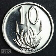 1977 South Africa 10 Cents Proof Coin KM#85 Protea