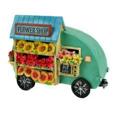 Miniature Dollhouse Fairy Garden - Flower Shop Trailer - Accessories