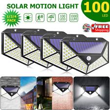 100LED Solar Luz de Pared Sensor de Movimiento Lámpara Exterior Impermeable